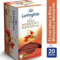 Té en Saquitos Rosa Mosqueta y Manzanilla La Virginia x 20 un.