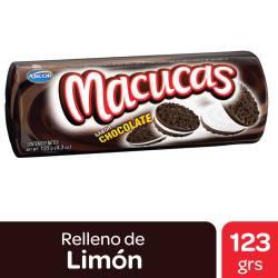 Galletitas Chocolate Macucas con Relleno de Vainilla x 123 g.
