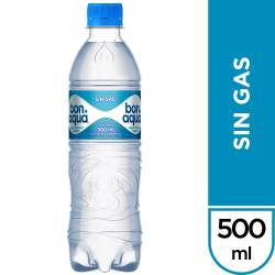 Agua Mineral sin gas Bonaqua x 500 cc.