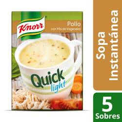 Sopa Knorr Pollo con Vegetales Light Quick x 45 g.