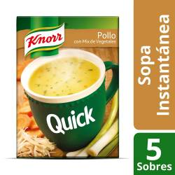 Sopa Knorr Pollo con Mix Vegetales Quick x 62 g.