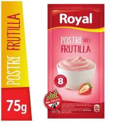 Postre en Polvo Frutilla Royal x 75 g.