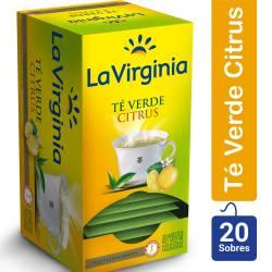 Té en Saquitos Verde Citrus La Virginia x 20 un.