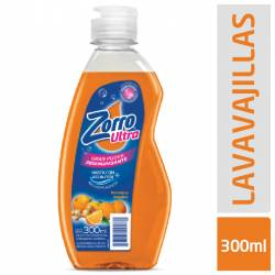 Detergente Líquido Zorro Naranja y Jengibre x 300 cc.