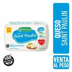 Queso Saint Paulin Light La Serenísima Sin Sal Fraccionado x 1 kg.