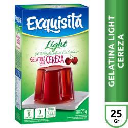 Gelatina en Polvo Exquisita Cereza Light 6 Vitaminas x 25 g.