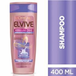 Shampoo Elvive Kera-Liso Brillo y Sedosidad x 400 cc.
