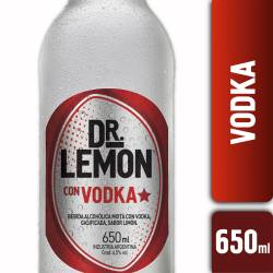 Dr. Lemon Vodka sabor Limón x 650 cc.