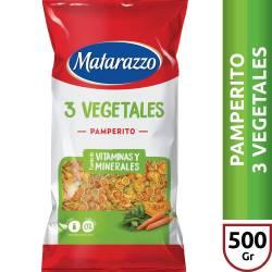 Fideos Pamperitos Matarazzo 3 Vegetales x 500 g.
