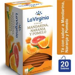 Té en Saquitos Mandarina, Naranja y Pomelo La Virginia x 20 un.