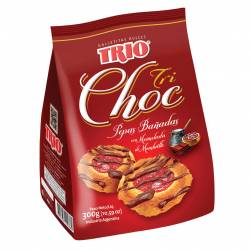 Galletitas Pepas TRIO Bañadas con Chocolate x 300 g.