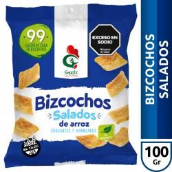 Bizcochos de Arroz Gallo Snacks Salados x 100 g.