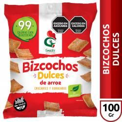 Bizcochos de Arroz Dulces Gallo Snacks x 100 g.