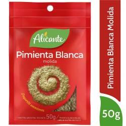 Pimienta Blanca Molida Alicante x 50 g.
