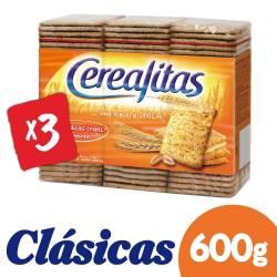 Galletitas x 3 un. Cerealitas Cereal x 600 g.