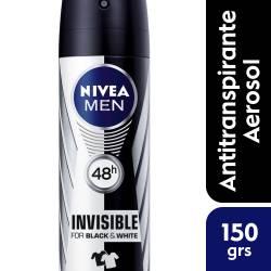 Antitranspirante Aerosol Nivea Deo Invisible B&W Men x 150 cc.