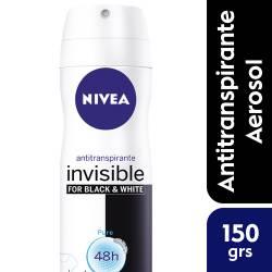 Antitranspirante Aerosol Nivea Deo Invisible B&W Pure x 150 cc.