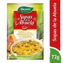 Sopa de Fideos con Verduras Alicante x 72 g.