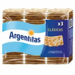 Galletitas Crackers Argentitas x 3 un. 306 g.