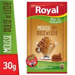Polvo para Preparar Mousse Royal Dulce de Leche Light x 30 g.