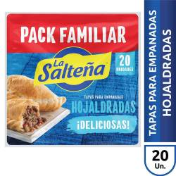 Tapas para Empanadas Hojaldradas La Salteña x 20 un. 550 g.