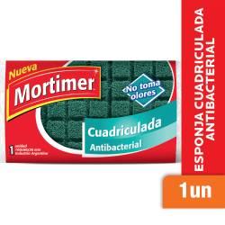 Esponja Cuadriculada Mortimer Antibacterial x 1 un.