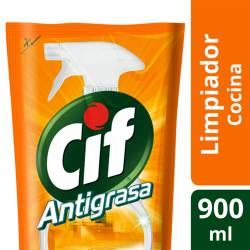 Limpiador Líquido Antigrasa Cif Doy Pack x 900 cc.