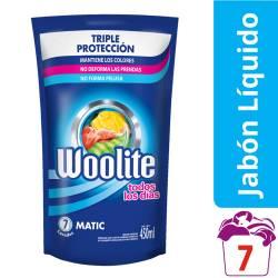 Detergente Líquido Ropa Fina Woolite Baja Espuma x 450 cc.