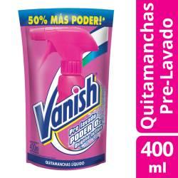 Prelavado Vanish Poder 02 Oxigeno Activo Doy Pack x 400 cc.