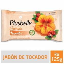 Jabón de Tocador Plusbelle Energizante x 3 un. 375 g.