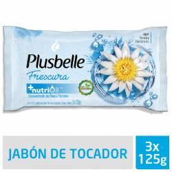 Jabón de Tocador Plusbelle Refrescante x 3 un. 375 g.