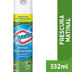 Desinfectante Aerosol Ayudín Frescura Matinal x 332 cc.