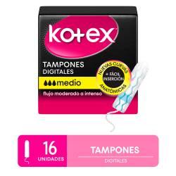 Tampones Kotex Medio Evolution x 16 un.