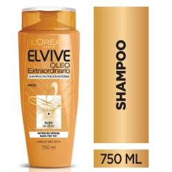 Shampoo Elvive Óleo Nutrición Intensa x 750 cc.