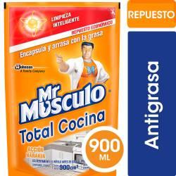 Limpiador Líquido Cocina Mr. Músculo Doy Pack x 900 cc.