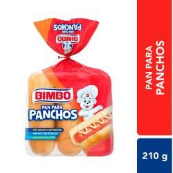 Pan para Pacho Lacteado Bimbo x 6 un. 210 g.