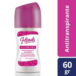 Antitranspirante Roll On Hinds Flowers x 60 g.