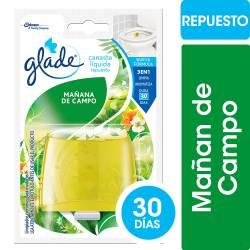 Desodorante Inodoro Glade Campo Repuesto x 50 cc.