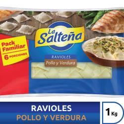 Ravioles Pollo y Verdura La Salteña x 1 Kg.