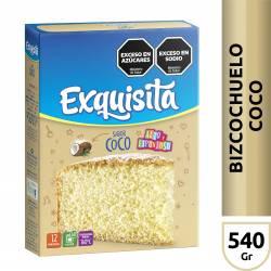 Polvo para Preparar Bizcochuelo Exquisita Coco x 540 g.