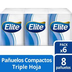 Pañuelos Descartables Elite Pack x 6. 48 un.
