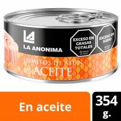 Atún en Aceite La Anónima en Lomos x 354 g.