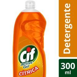 Detergente Líquido Active Gel Cif Cítrico x 300 cc.