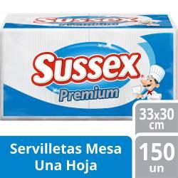 Servilletas Papel Premium Sussex 30cmx30cm x 150 un.