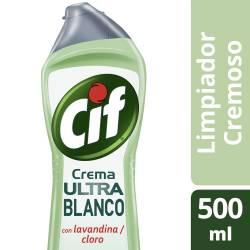 Limpiador Cremoso Cif Ultra Blanco x 500 cc.