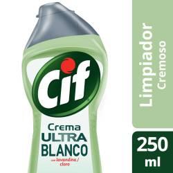 Limpiador Cremoso Cif Ultra Blanco x 250 ml.