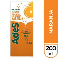 Bebida de Soja Ades Naranja Multi10 x 200 cc.