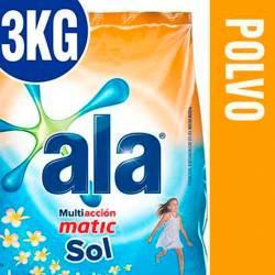 Jabón Polvo Baja Espuma Ala Matic Mañana Sol x 3 kg.