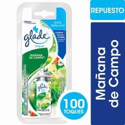 Aromatizante Ambiente Repuesto Glade Toque Mañana de Campo x 12 cc.