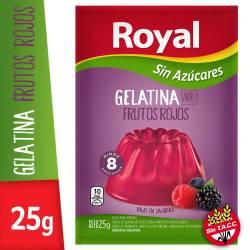 Gelatina en Polvo Light Royal Frutos Rojos x 25 g.